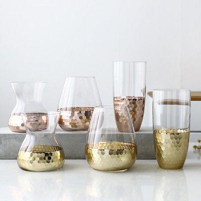 歐式花瓶歐式玻璃透明花瓶客廳桌面擺件插花水培富貴竹百合干花餐桌小花瓶
