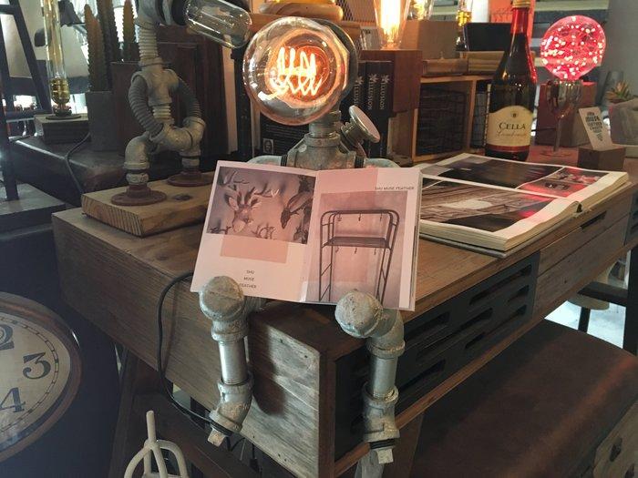 【曙muse】工業風檯燈(三段調光)機器人桌燈 多功能 造型檯燈 loft 工業風 咖啡廳 民宿 餐廳 住家 設計