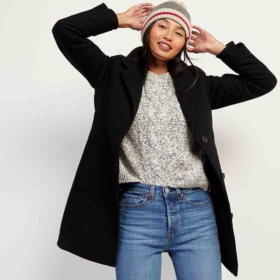 eK Shop限時優惠[a la sha Roots代購正品]ROOTS女裝-可拆式大衣 滿額加贈ROOTS萬用袋