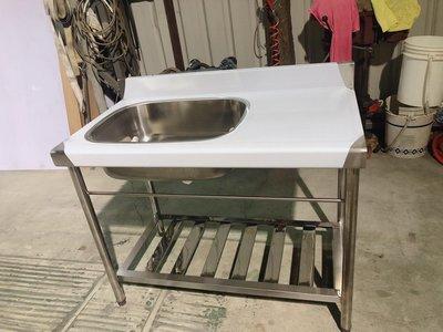 免運費 全新 100cm 不鏽鋼水槽 洗手台 洗碗槽 水槽 流理台