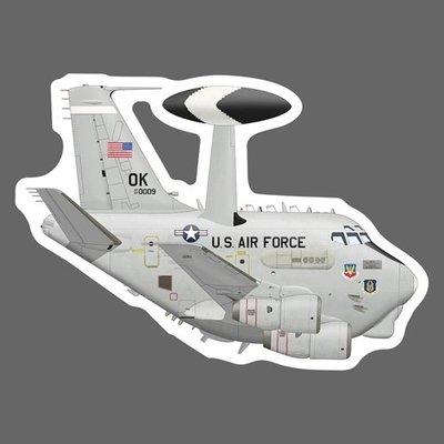 波音E-3C 空中預警機 美國空軍 USAF 83-0009 Q版 軍機 貼紙