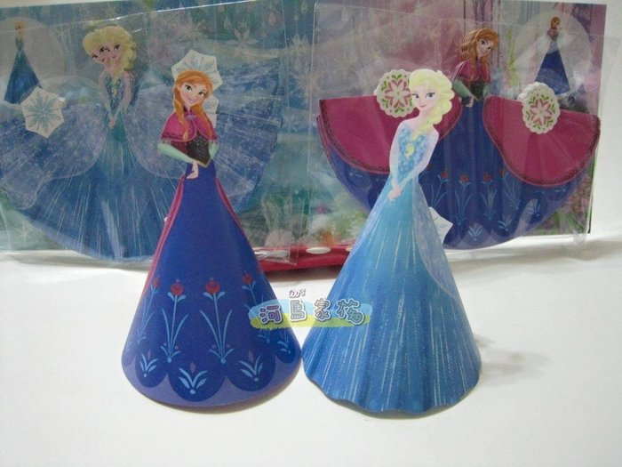 ~河馬家族~日本帶回_東京迪士尼樂園冰雪奇緣艾沙&安娜公主娃娃立體人形便條紙罐一套售☆現貨