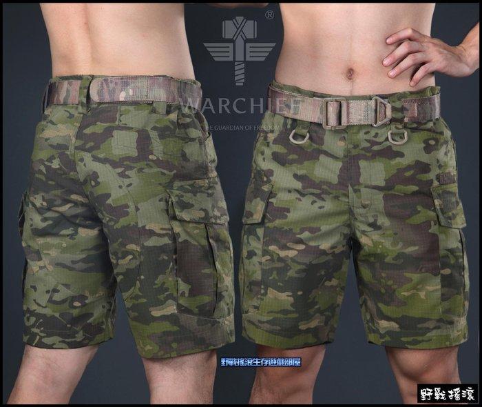 【野戰搖滾-生存遊戲】魔蠍迷彩戰術短褲【Multicam Tropic】青蛙裝叢林多地形迷彩褲工作褲戰術褲綠多地迷彩