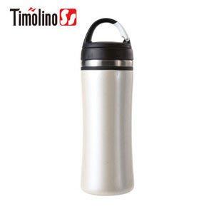 Timolino隨身杯350ml (珍珠白) (不鏽鋼保溫杯/ 不銹鋼杯/ 隨手杯/ 環保杯)【活動吊掛環設計】