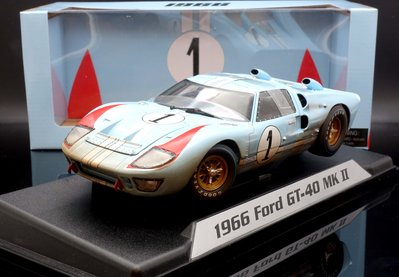 【M.A.S.H】現貨特價 Shelby Collection 1/18 Ford GT40 #1 1966 髒污版