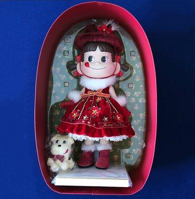 不二家牛奶妹聖誕陶瓷人形連原裝盒