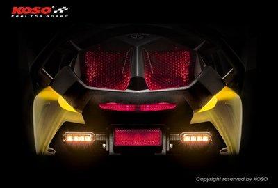 【杰仔小舖】KOSO高亮度LED後方向燈組, 適用:BWS125 R版/ BWS'R/ BWS R, 限量特價中!
