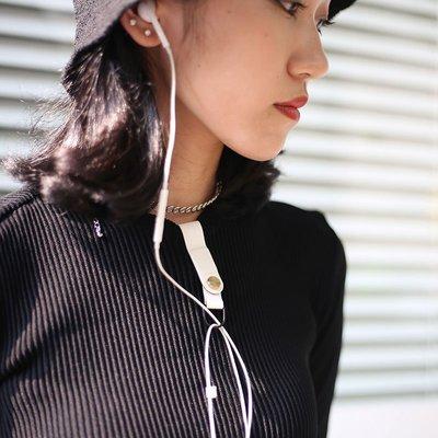 耳機繞線器 收納器防纏繞磁吸新品收納扣固定扣皮質多功能整新理保護扣衣領集線器防丟失綁帶蘋果華為三星NO90