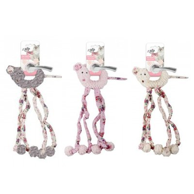 貓玩具 風鈴玩具$199/ afp 玫瑰花布 掛門玩具 塑膠聲 逗貓玩具 貓咪玩具 四腳怪/ 顏色隨機出貨/  台北市