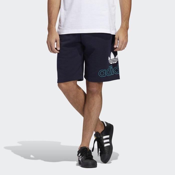 南 2020 6月 Adidas PRE-GAME SHORTS FM1512 黑 藍 LOGO三葉草 運動 休閒短褲