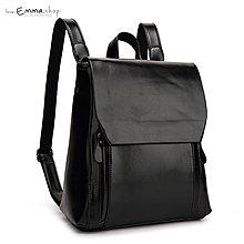 EmmaShop艾購物-正韓韓雜款-學院風格油蠟皮革後背包/非真皮托特包尼龍媽媽包