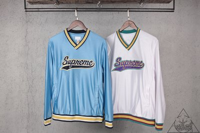 【HYDRA】Supreme Baseball Wram Up Top 球衣 長T 長袖 藍 白【SUP289】