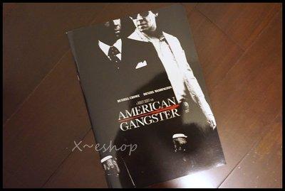 X~西洋電影[美國黑幫American Gangster]丹佐華盛頓,羅素克洛-日本電影原版場刊