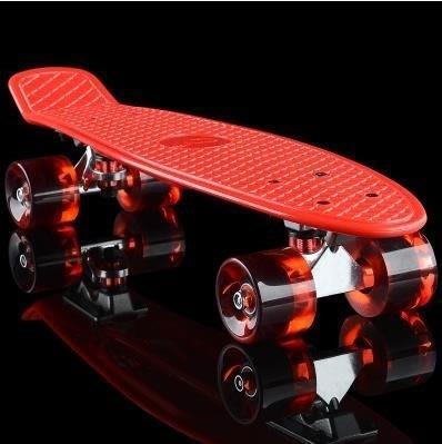 ☜男神閣☞小魚板滑板香蕉板青少年公路代步單翹板兒童成人初學者四輪滑板車