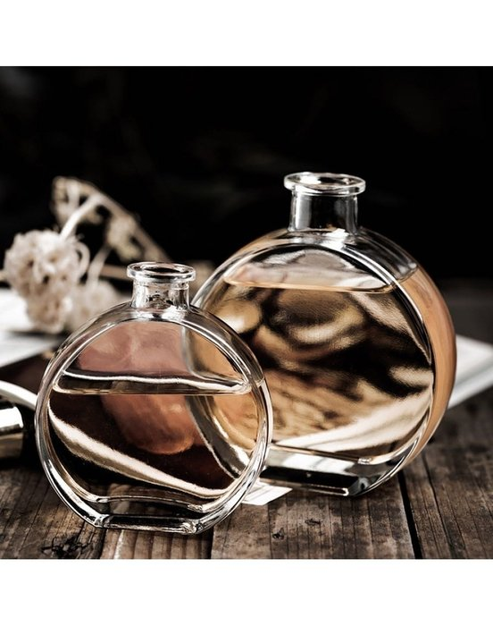 100ml香奈兒扁圓玻璃瓶☆ VITO zakka ☆浮游花 漂浮花 玻璃瓶 療癒系💕ins植物浮游永生花標本玻璃瓶