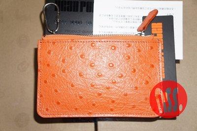 「NSS』HEAD PORTER OSTRICH COIN CASE 鑰匙 零錢包 牛革 鴕鳥皮壓紋