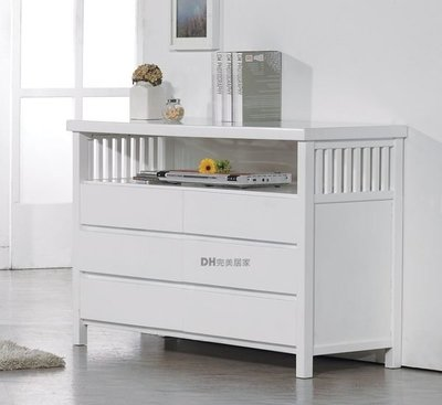 【DH】貨號DH029《安娜》4尺精製白色實木六斗櫃˙質感一流˙潔白設計˙主要地區免運