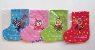 日本麵包超人聖誕造型束口袋4點入組[ 聖誕新年出清大特價 ]