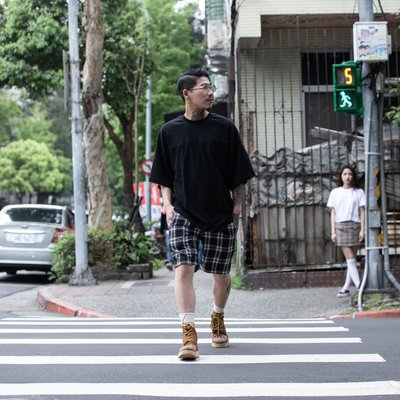 ISFN 18S/S Dropped Shoulder Tee (patch pocket) 拼接口袋落肩TEE