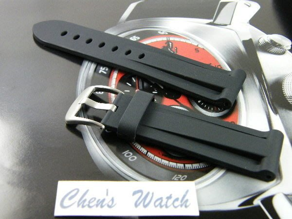 錶帶屋 沛納海 Panerai 代用 頂級運動矽膠錶帶    26mm 現貨商品
