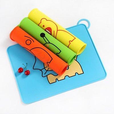 誠信家具 兒童硅膠餐墊寶寶便攜式防水抗菌可摺疊隔熱墊學生用卡通防滑桌墊