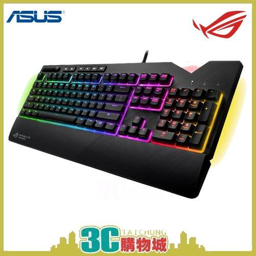 3C購物城*華碩Asus原廠  ROG STRIX FLARE RGB CHERRY 銀軸電競鍵盤 電腦 配件 周邊