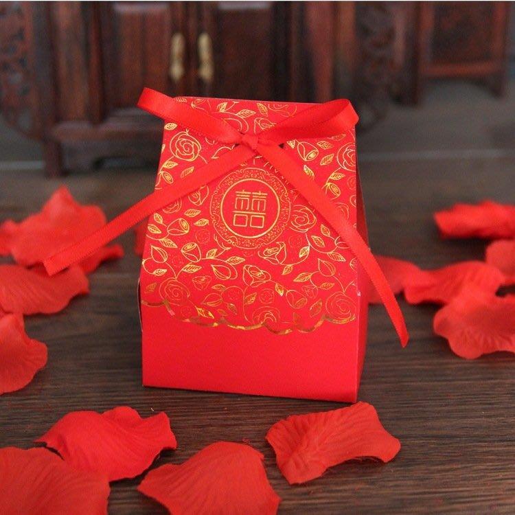 【氣球批發廣場】中國風 囍字喜糖盒  喜糖盒 糖盒1.5元  巧克力 糖果盒 婚禮小物
