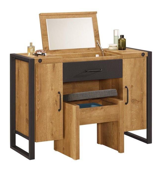 布朗克斯3.5尺掀鏡化妝台書桌兩用(含椅子)😊暖暖屋傢俱傢飾😊