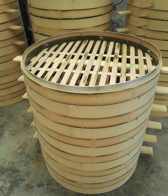 蒸籠50 52商用圓竹制蒸籠鋁合金竹子包口蒸屜蒸格蒸包籠子方籠   全館免運