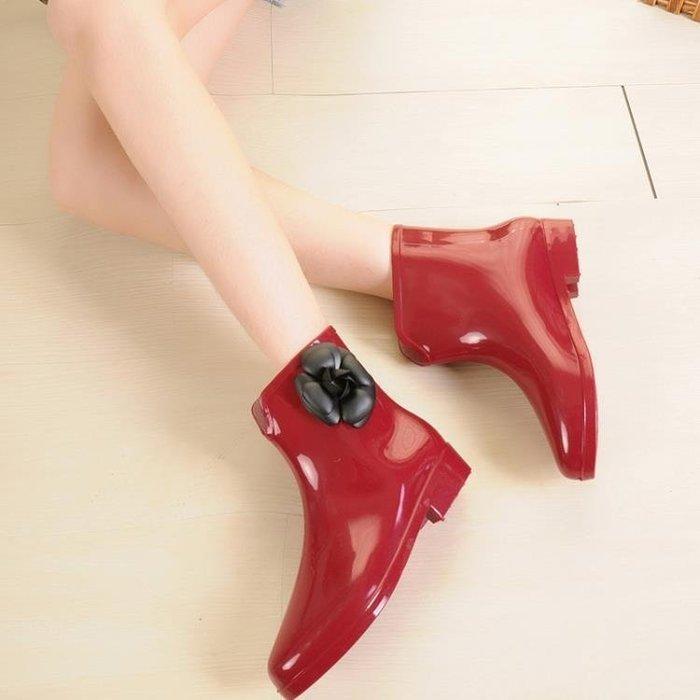☜男神閣☞韓國時尚女雨鞋雨靴短筒膠鞋成人防水鞋防滑水靴正韓學生套鞋夏季