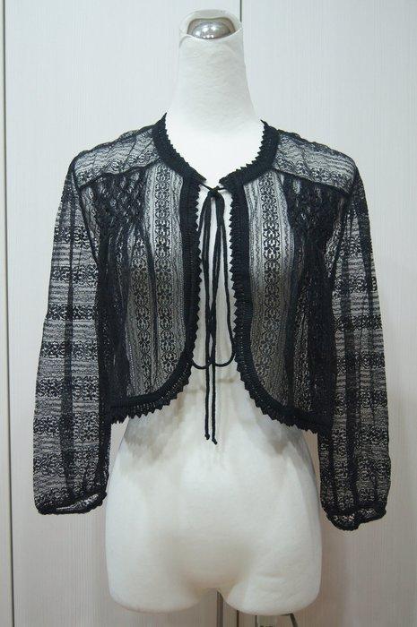 ADAM JONES 黑色蕾絲綁帶小外套         原價   38600     特價  7500