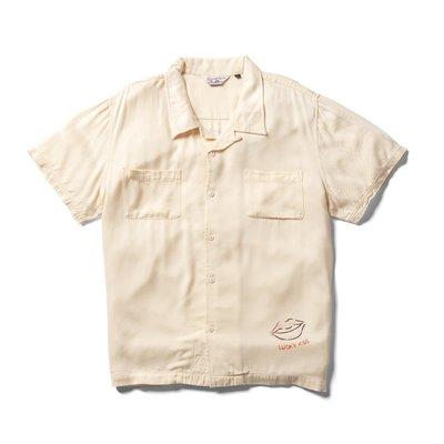 美國東村【Retrodandy】女郎賽車 人造絲開襟襯衫 Race Lady Shirt - 米色 Beige
