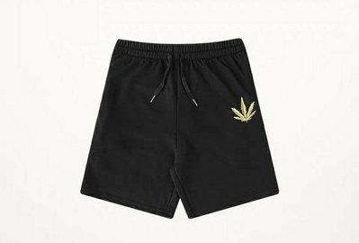 歐美 大麻葉 WEED 棉短褲 420 嘻哈HIP HOP 饒舌 黑綠2色 尺寸26~42腰