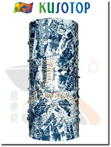 KUSOTOP 原創系列 運動魔術頭巾 吸濕快乾 抗UV 柔軟 透氣 3 台灣製造 喜樂屋戶外休閒