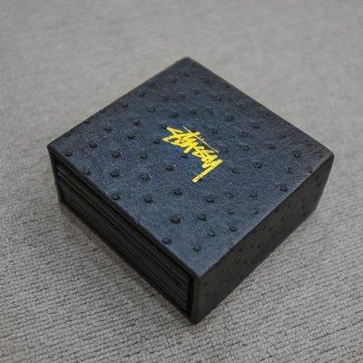 車庫服飾 - - STUSSY OSTRICH COASTER SET 皮革 杯墊組 黑色