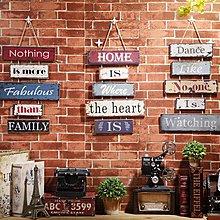 美式復古連串掛牌牆面店鋪裝飾木質壁掛創意家居個性木板門牌壁掛(三款可選)