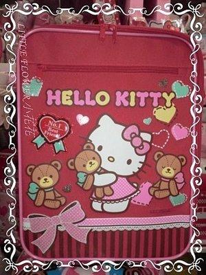 小公主日本精品 Hello Kitty 可愛大容量氣球抱小熊滿滿豐富圖多夾層拉桿書包/16吋行李箱