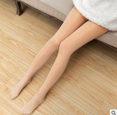 §韓國空運連線 妖精可可2.0加絨3.0防寒寒流不冷加絨厚比基尼連腳絲襪假透肉超性感逼真襪加厚保暖粒絨刷毛絲襪黑衣天使