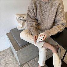 現貨 保暖寬鬆麻花長袖針織衫 萌蔓物語【KX3980】韓氣質女上衣