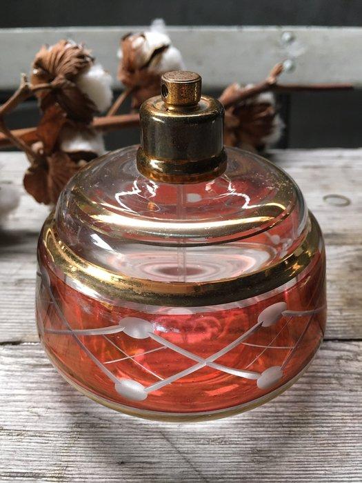 法國老香水瓶 淡紅色 歐洲古董老件(04_C-13-02)【小學樘_歐洲老家具】