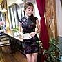 ~墨蘭~中式復古優雅印花短款旗袍 日常時尚...