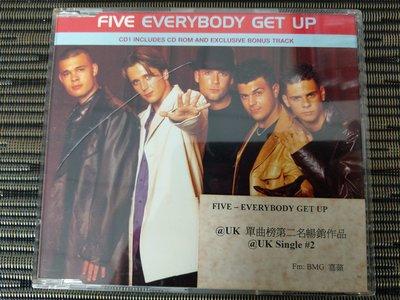 稀有宣傳版 CD- Five- Everybody get up (非 蔡琴)NW