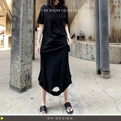 5/16新品►DR.DESIGN│DR31425-暗黑設計 經典RO款 正反兩穿 不規則 超顯瘦 立體剪裁 薄軟 洋裝