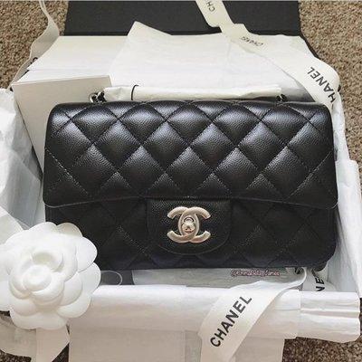 Chanel 香奈兒包 A69900 Flap Mini Coco 包 荔枝紋 20 cm 黑銀鍊 台北市