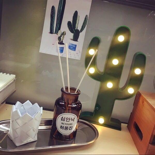 [ Atelier Smile ] 鄉村雜貨 北歐風 ins 仙人掌 火鳥 LED燈 兒童房裝飾 露營 # 特價