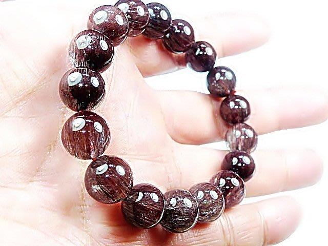 (( 上品堂))頂級銅鈦髮晶手珠.收藏款~貓眼全順絲,磁場超強,重達40克.只給第一標.