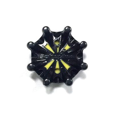 [小鷹小舖] Softspikes Pulsar Golf Spikes 高爾夫 鞋釘 適用鞋款NIKE 黑黃色