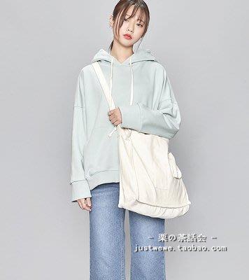 手提包 帆布包 斜背包 包包 帆布袋(現貨)韓國帆布大包單肩包斜挎包two-way square cotton bag