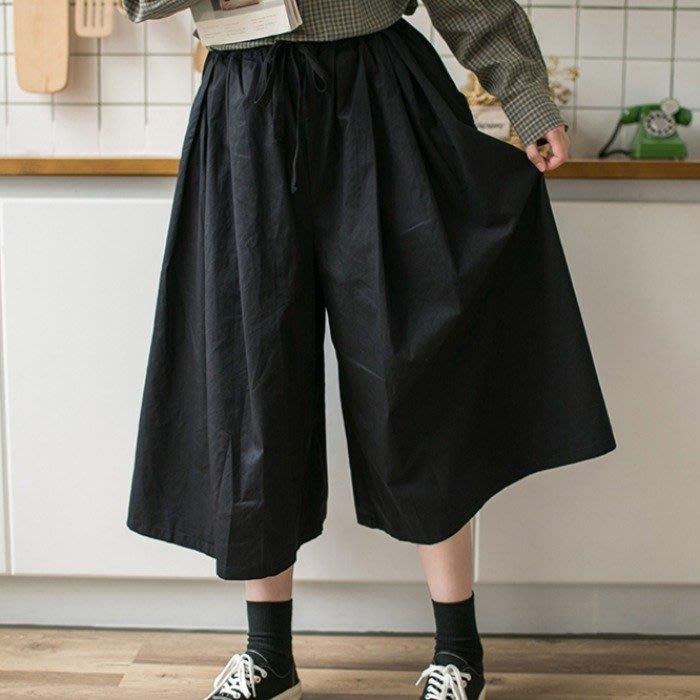 SeyeS  個性日系基本款自然風寬鬆三色褲裙(有大尺碼)