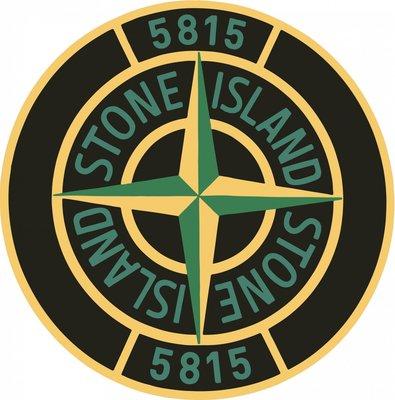 Stone Island 圓形徽章 LOGO 黃綠黑 3m防水貼紙 尺寸88mm